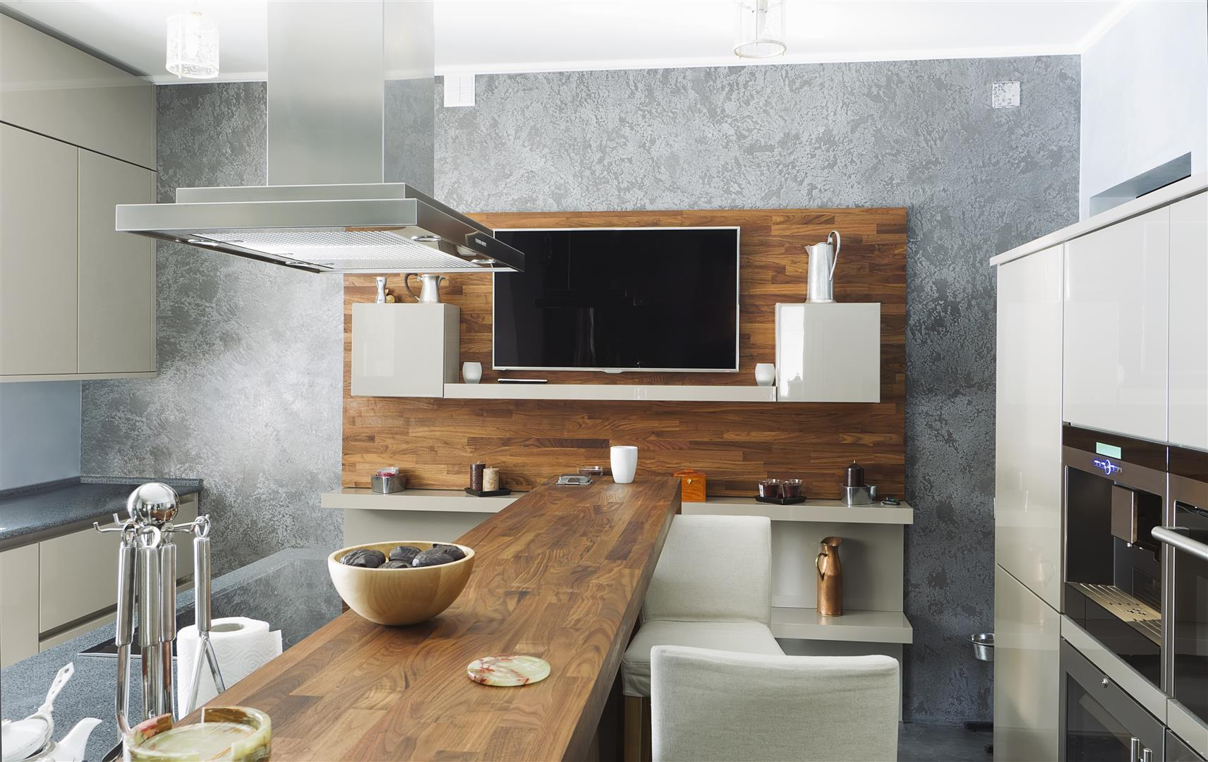 Kitchen Integrated with Audio Video